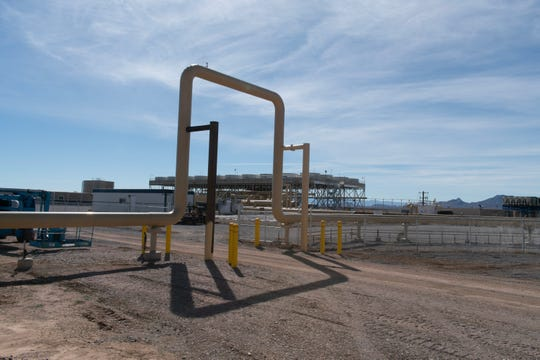 The entrance to the Lightning Dock power plant is near the intersection of Geothermal and Hot Water roads. Cyrq Energy is currently delivering 10 to 12 Megawatts of electricity to Public Service Company of New Mexico.