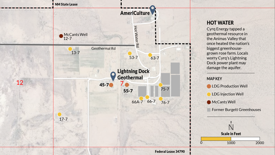 Cyrq Energy tapped a geothermal resource in the Animas Valley that once heated the nation's biggest greenhouse-grown rose farm. Locals worry Cyrq's Lighting Dock power plant may damage the aquifer.