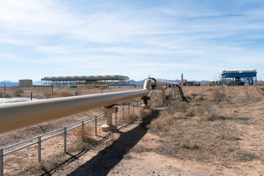 Pipes run 250-plus-degree geothermal water to Cyrq Energy's Lightning Dock power plant in the Animas Valley of New Mexico's Hidalgo County. During its first five years of operation, the plant struggled to produce the 10 Megawatts of electricity promised.
