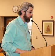 Jeff Patterson, City of Carlsbad planning director, discusses zoning changes during the March 26 Carlsbad City Council meeting.