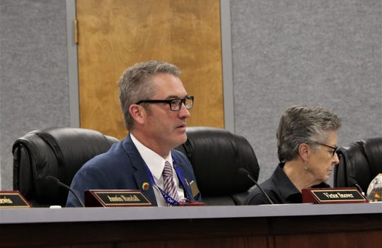 Aztec Mayor Victor Snover is pictured during a City Commission meeting.