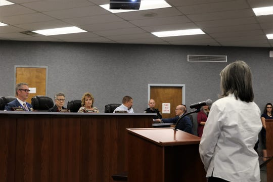 Aztec City Commission listened to comments for and against a Second Amendment Preservation City resolution, Tuesday, March 26, 2019, during its regular meeting.