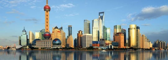 """Shanghai means """"on the sea,"""" reflecting the 4 meter elevation of the city, also called the Paris of the Orient."""