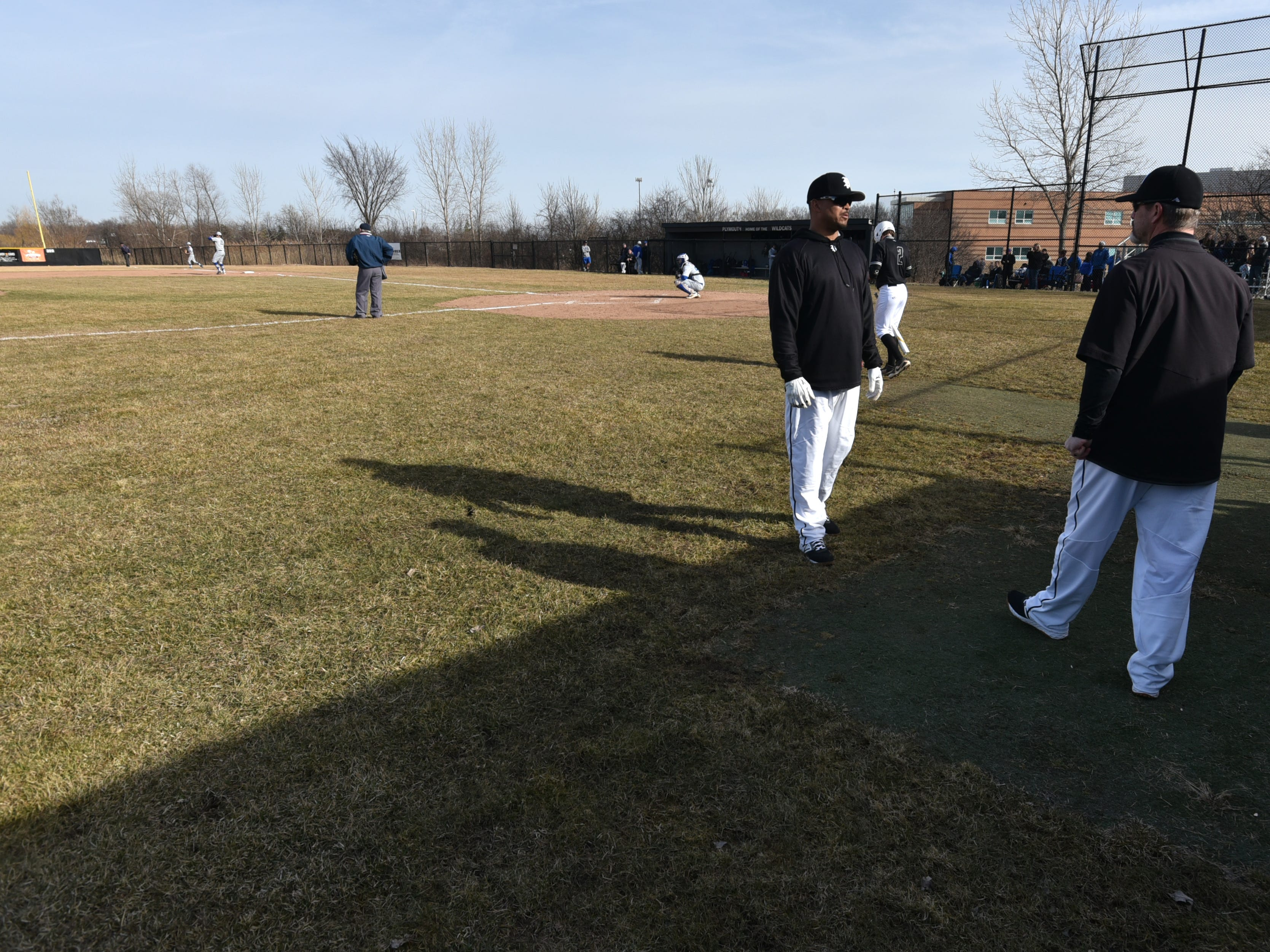 Plymouth High hosted Salem High on March 27 for a baseball game. The Wildcats won 5-2.