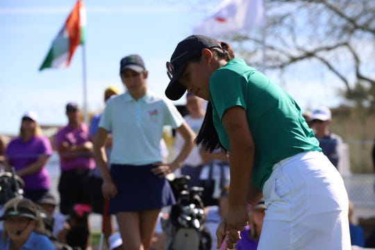 Pratima Sherpa of Nepal participated in a skills challenge at the LPGA's Bank of Hope Founders Cup in Phoenix last week. This week the 19-year-old Sherpa is in the field of the IOA Championship on the Symetra Tour in Beaumont.