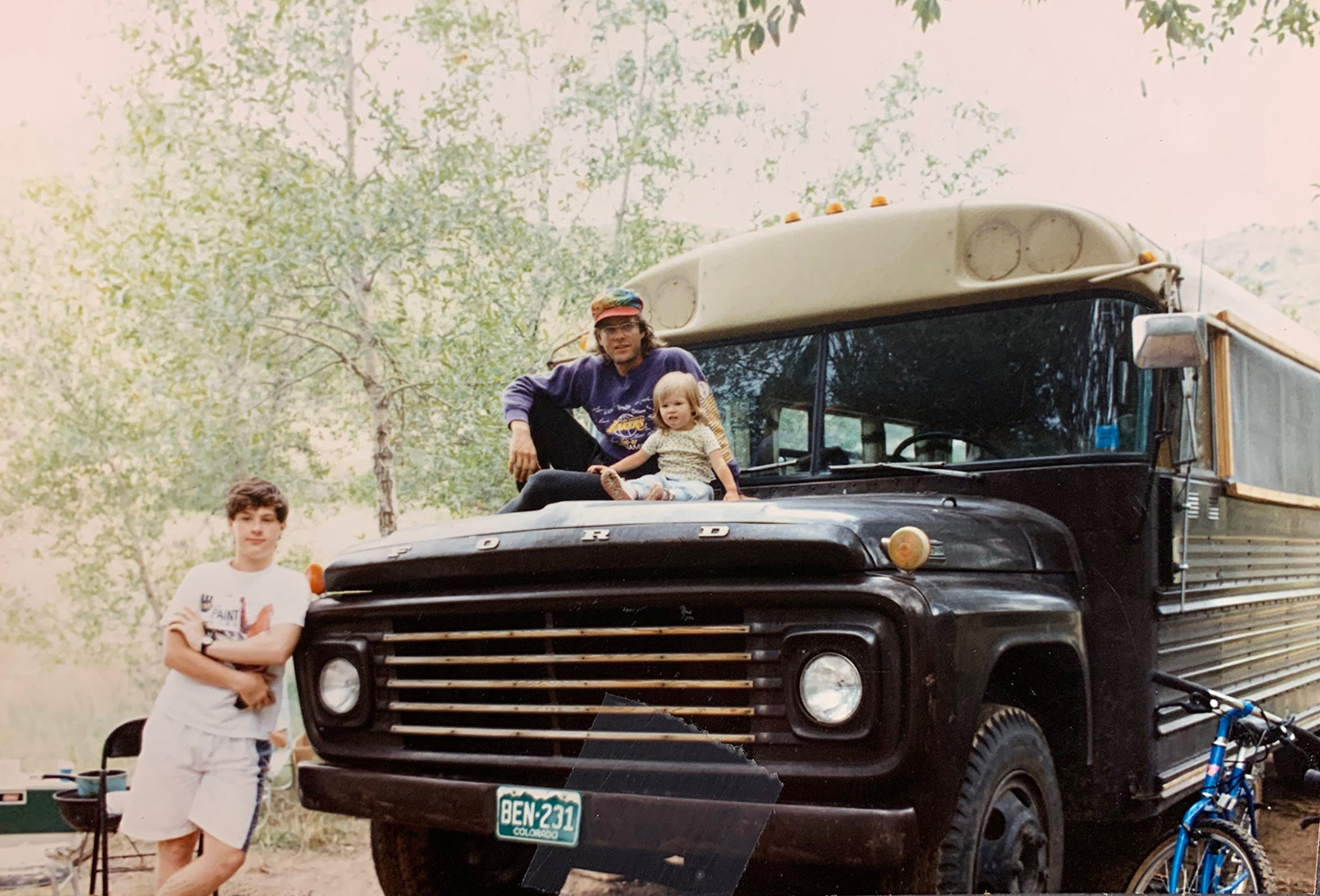 Mieka May (right) with her father, Mystic Mike (middle) and cousin Josh Kline (left)