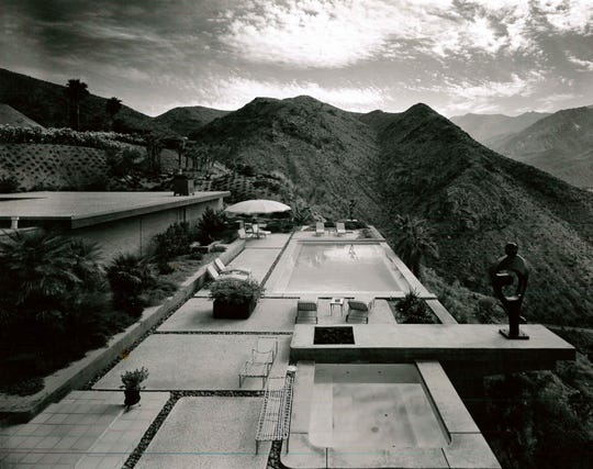 William Holden's Southridge home in Palm Springs circa 1970, designed by Hugh Kaptur.