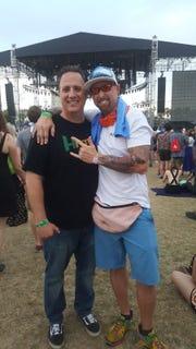 Ryan Edgmon with his friend, Ronnie Fox of La Quinta.