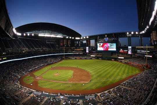 Chase Field during Monday night's Diamondbacks exhibition game.