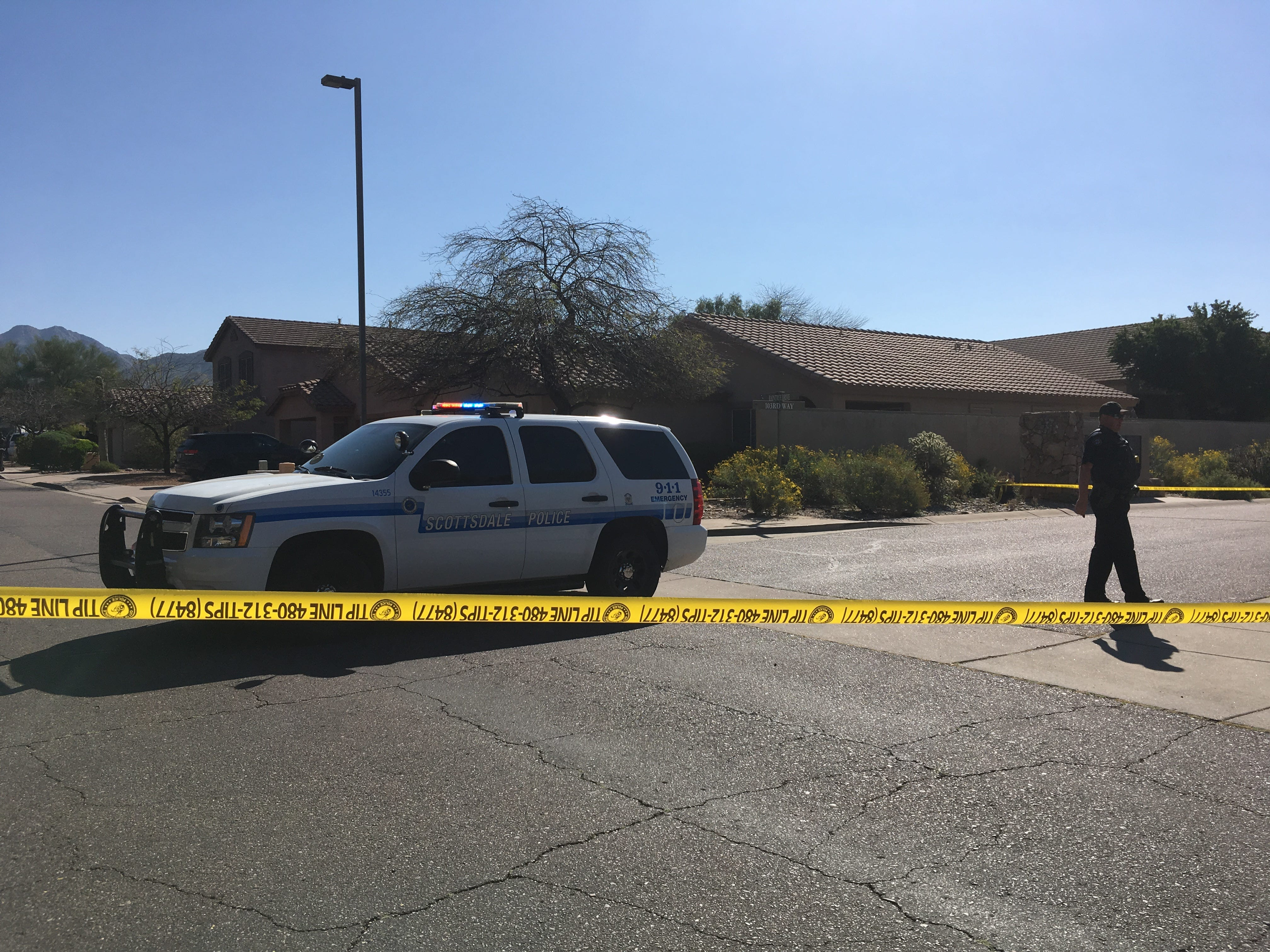 Scottsdale police arrested a man who barricaded himself inside his house when officers went to a residence near 105th Street and Raintree Drive to investigate a possible stabbing Thursday morning.