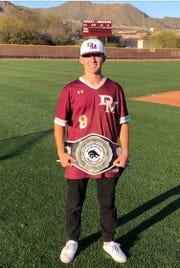 Desert Mountain pitcher and second baseman Jonathan Hoebing