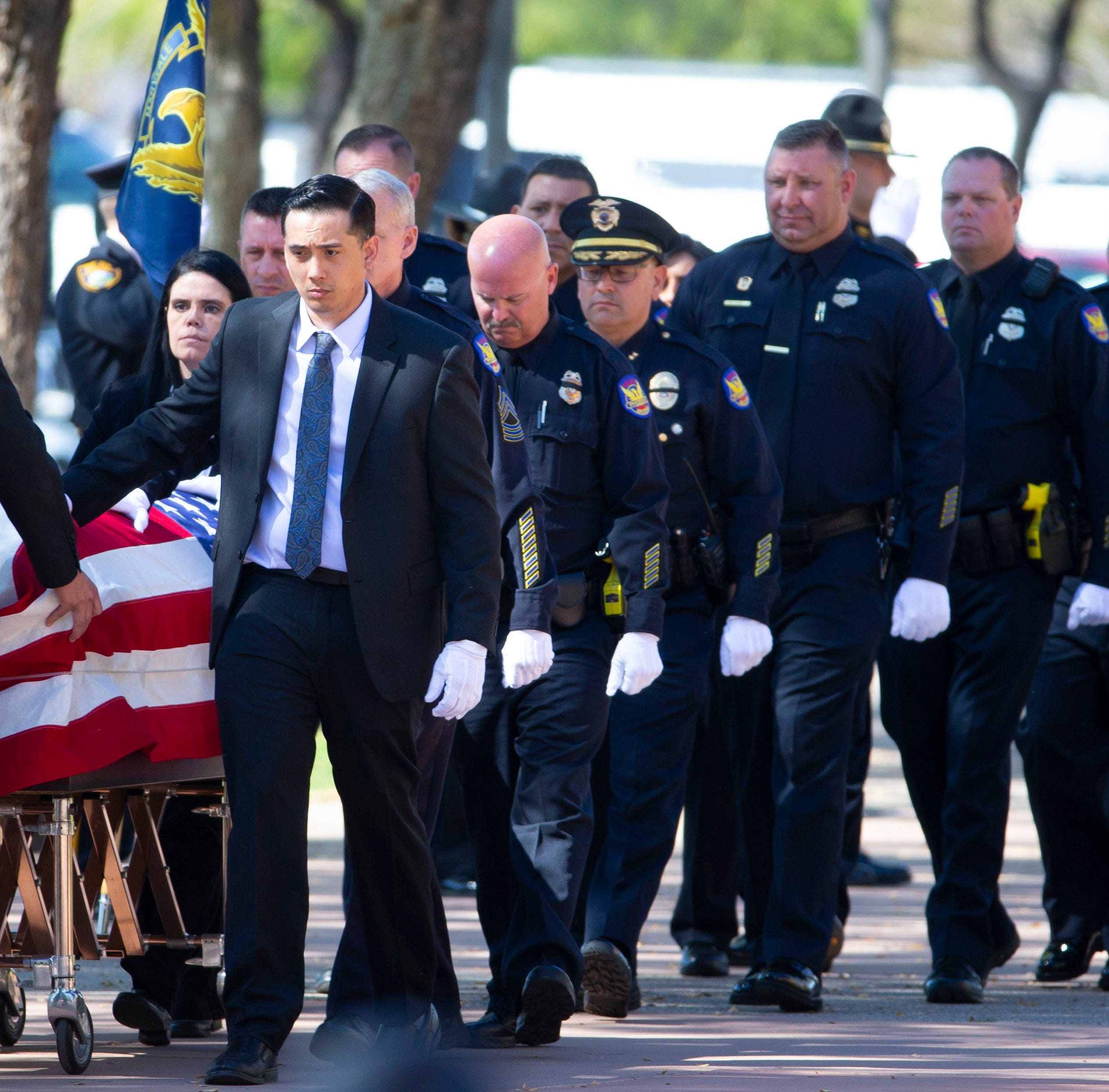'A true hero': Hundreds attend funeral for Phoenix police Officer Paul Rutherford