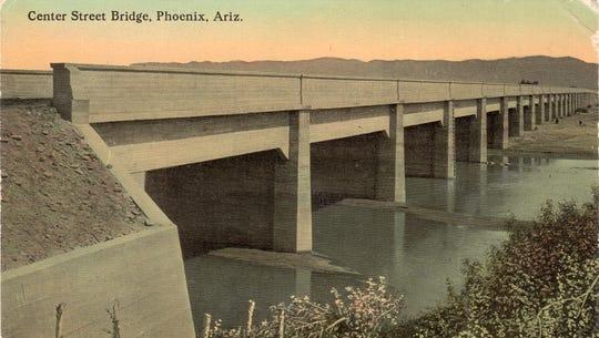 Phoenix's Center Street Bridge as seen on a postcard.