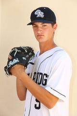 Gila Ridge High School senior baseball player Joey Dressler on Mar. 25, 2019 in Scottsdale, Ariz.