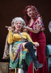 "Diana Burbano and Marlene Montes in Arizona Theatre Company's ""American Mariachi"""
