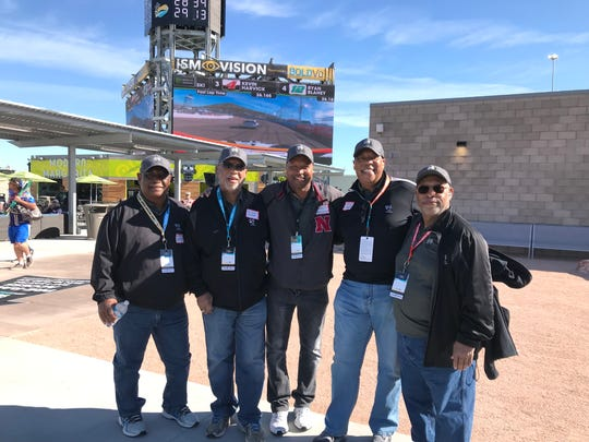 Left to right: Larry Avery,  Felton Avery, Henry Buchanan, Dale Avery and David Avery March 9, 2019 at ISM Raceway in Avondale.