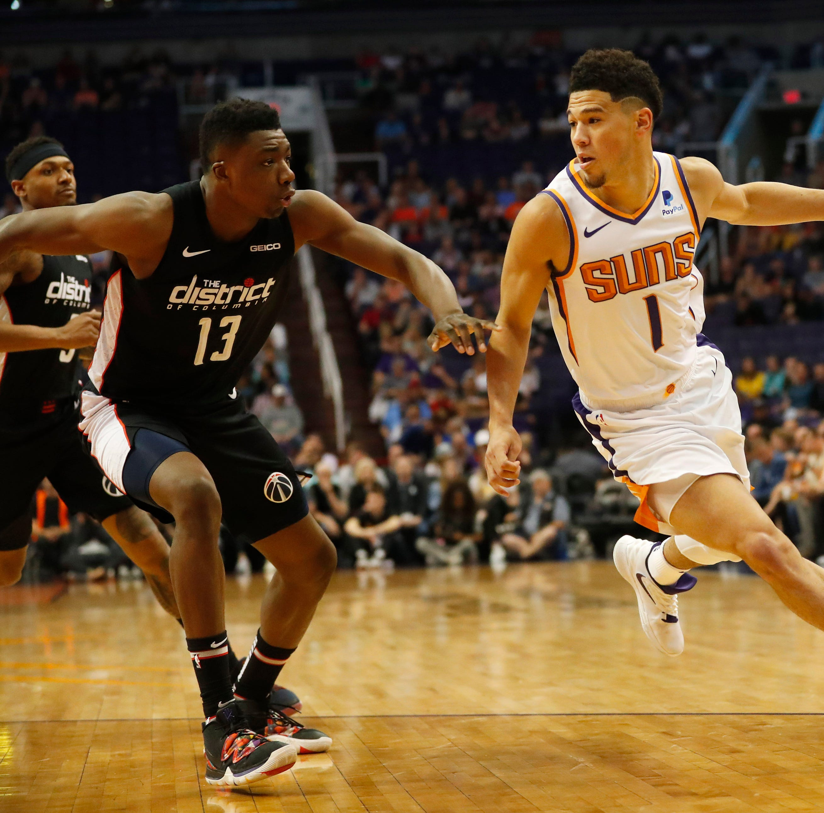 Suns' Devin Booker caught on camera telling his brother 'I'm going for 50'
