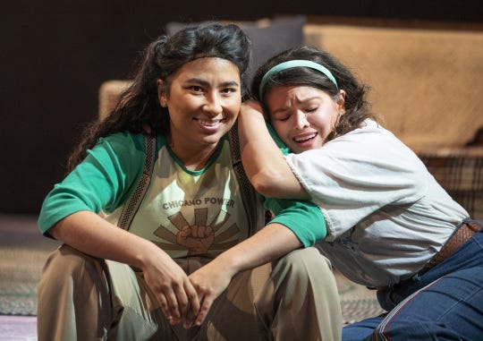 "Satya Chavez and Christen Gee Celayain in Arizona Theatre Company's ""American Mariachi."""