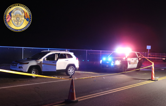 A Peoria police sergeant shot a man in the face when he reached for a gun during a traffic stop Wednesday night.