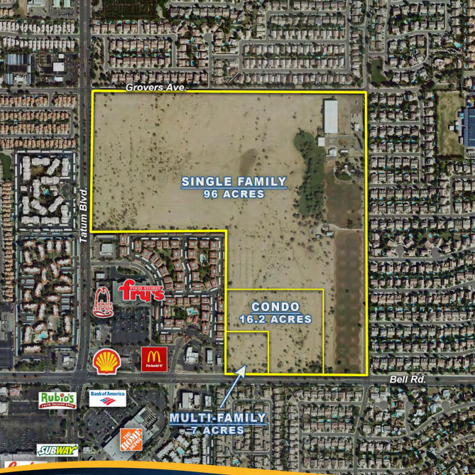 Land in northeast Phoenix sells to homebuilder for record price