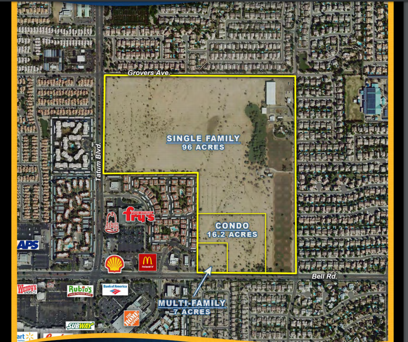 A map of the land that was bought for $80 million, which may be turned into a luxury housing community.