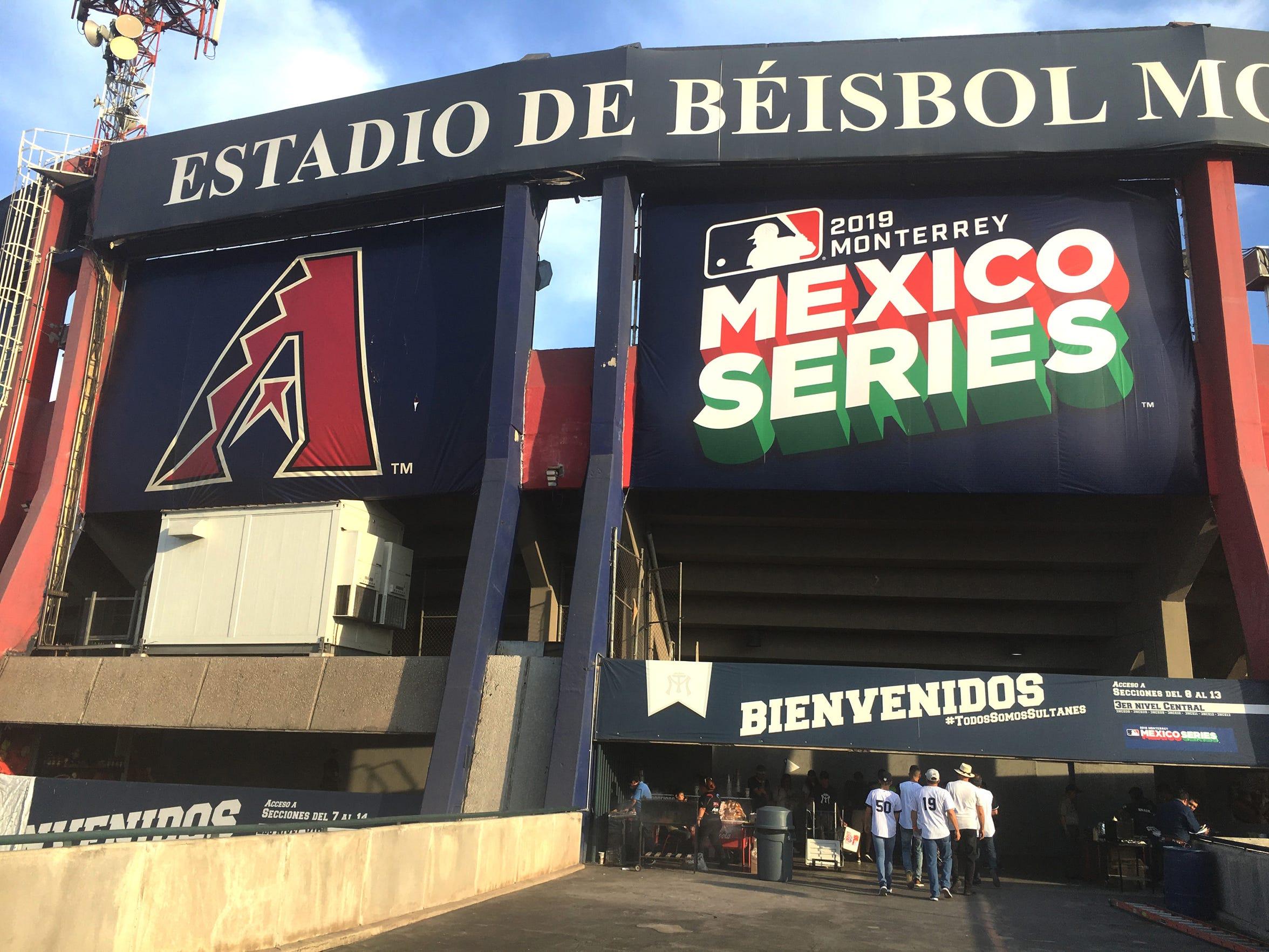 El Estadio de Beisbol Monterrey, en México, será sede de dos series de temporada regular en 2019.