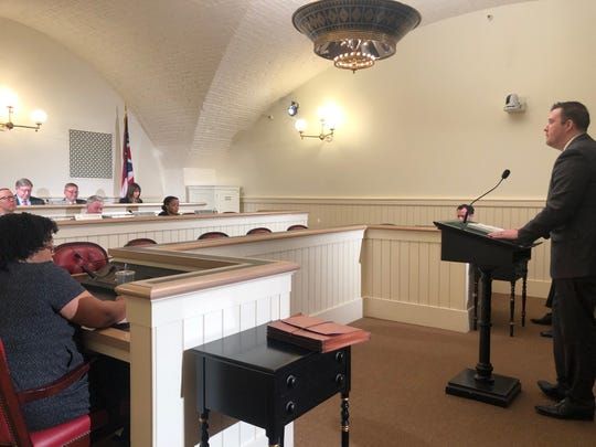 Cajon Keeton, treasurer of Benton-Carroll-Salem Local School District, testified before the Finance Subcommittee on Primary and Secondary Education this week.
