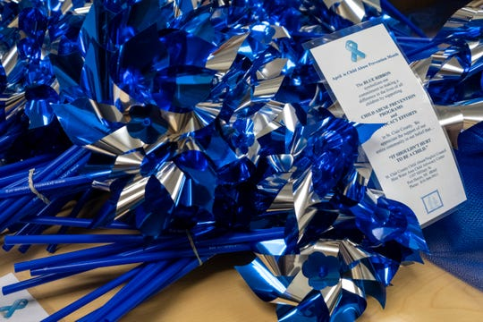 In addition to the pinwheels that were returned and usable from last year, the St. Clair County Child Abuse/Neglect Council plans to give out an additional 5,000 pinwheels. The pinwheels will be distributed and set out Monday.
