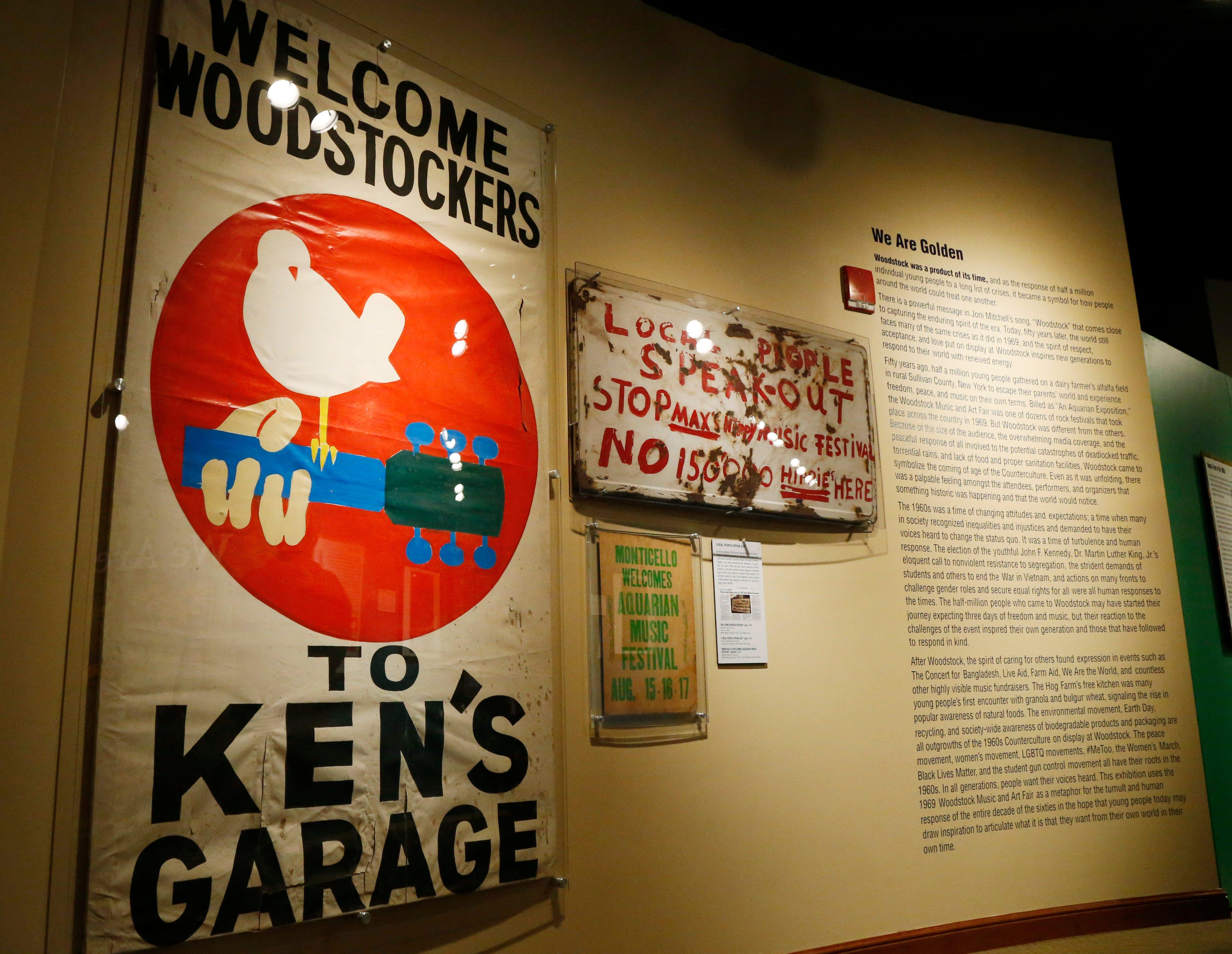 Video: 'We Are Golden' Woodstock anniversary exhibit