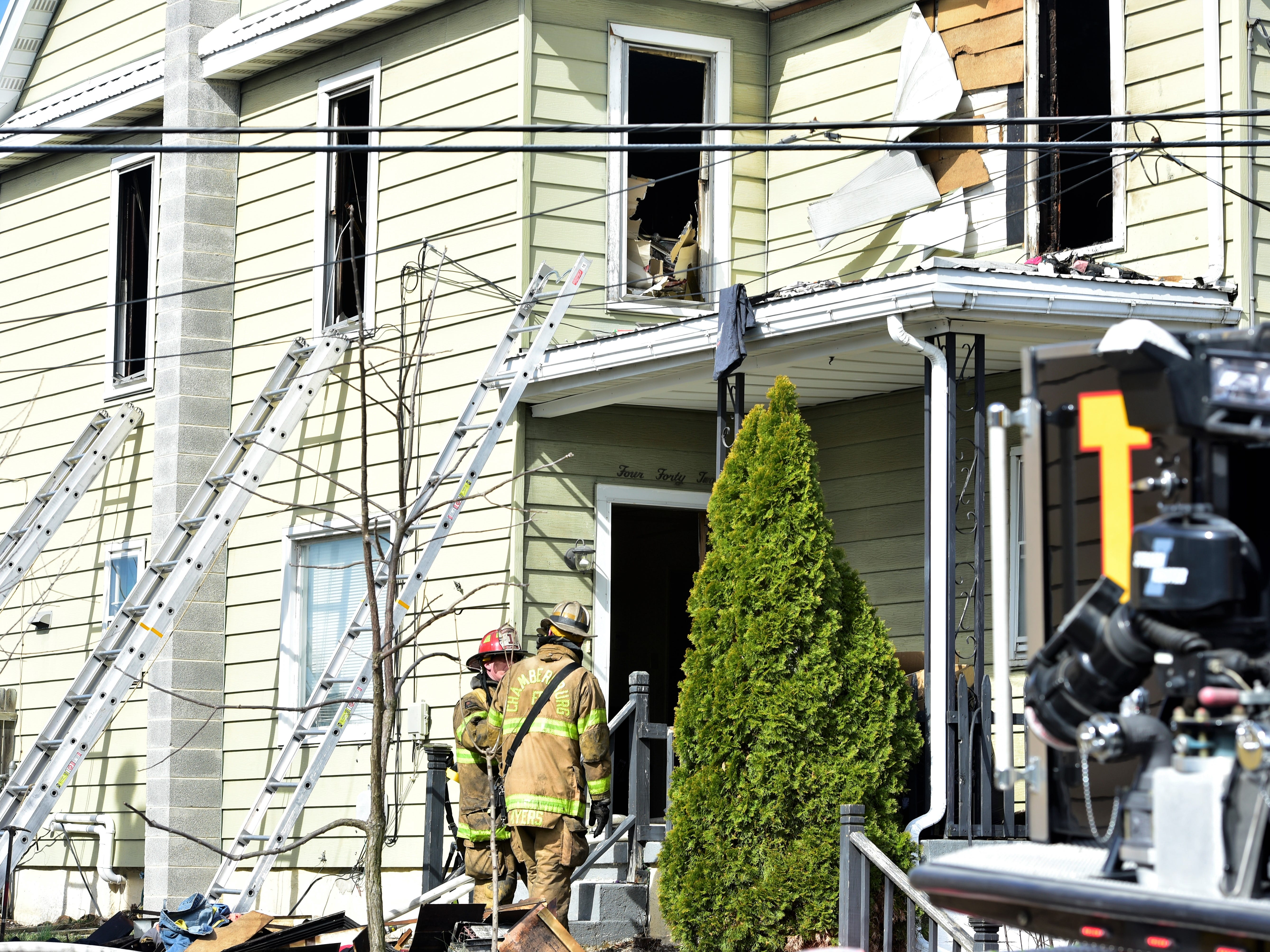 Crews responded late Thursday morning to a fire at a duplex in the 400 block of Center Street, Chambersburg.