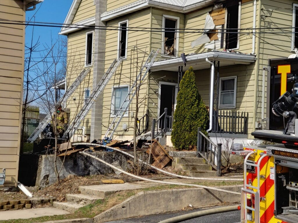 Fire crews responded to a house fire in the 400 block of Center Street late Thursday morning.