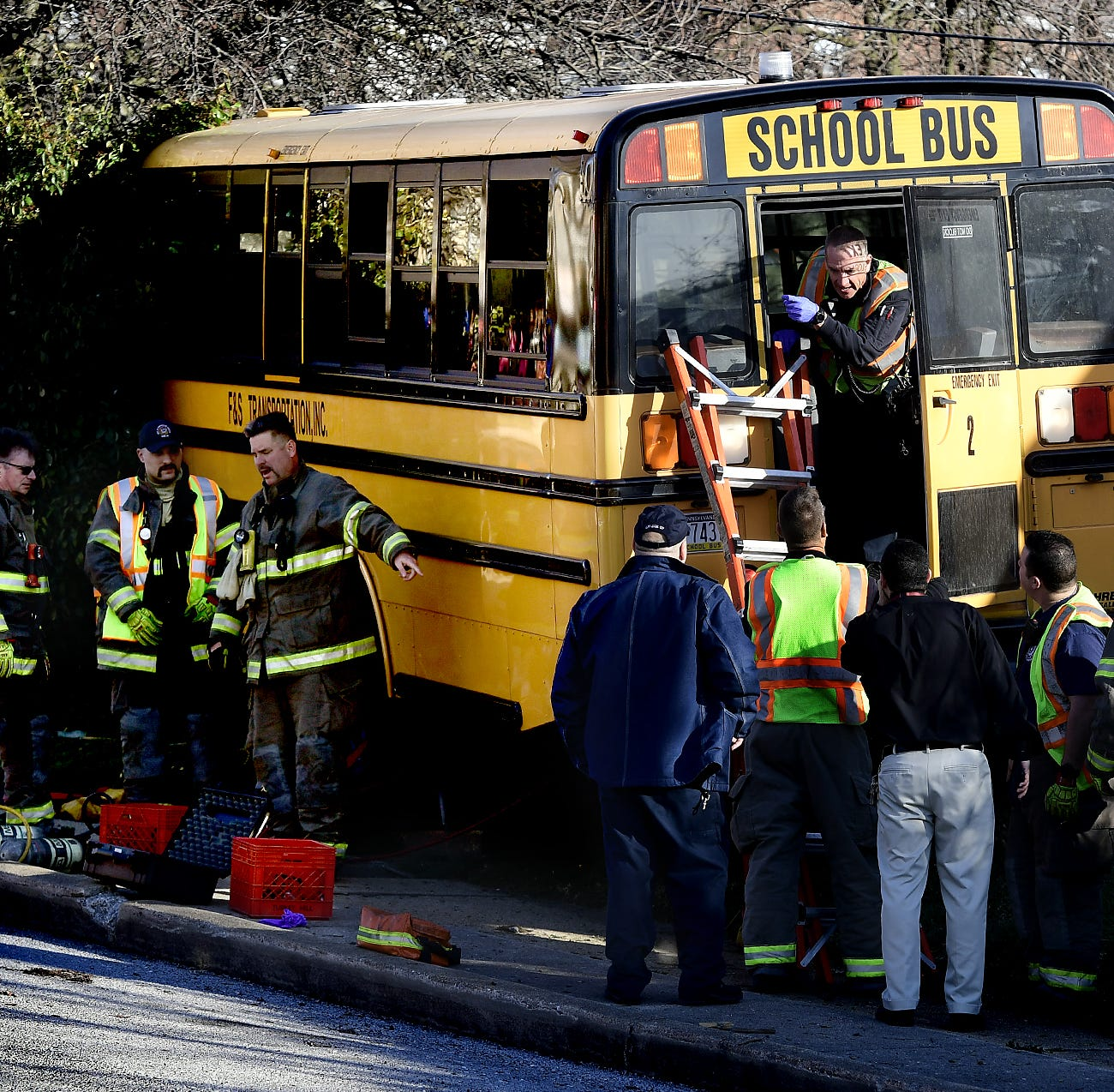 Six students sent to hospital following York City bus crash