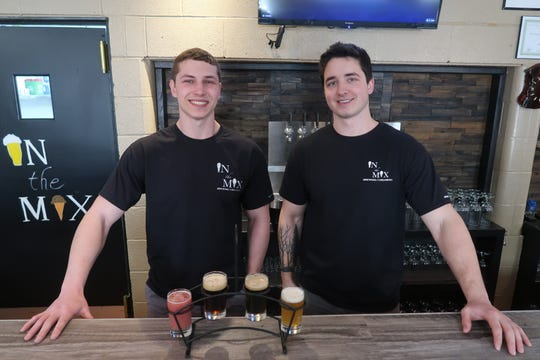 Brothers Austin and Jared Mesiti, right, are the creative forces behind In The Mix Brewing and Creamery.