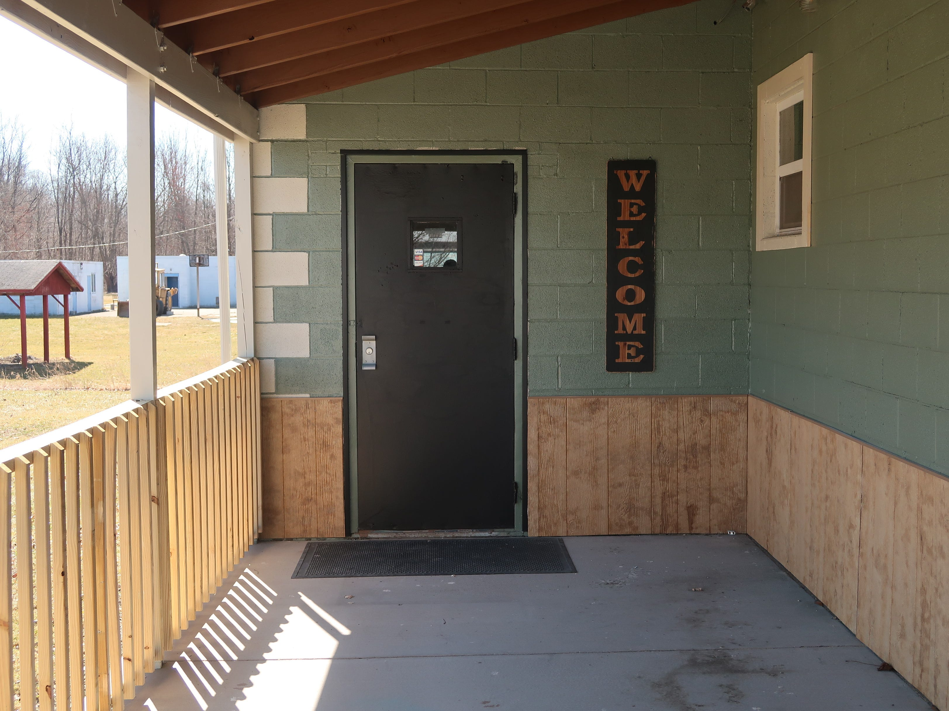 The main entrance at In The Mix Brewing and Creamery in Niagara County.