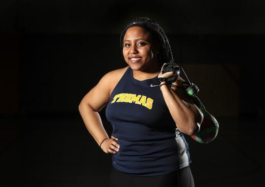 Monique Hardy of Webster Thomas, is the 2018-19 Democrat and Chronicle Girls Indoor Track Athlete of the Year.