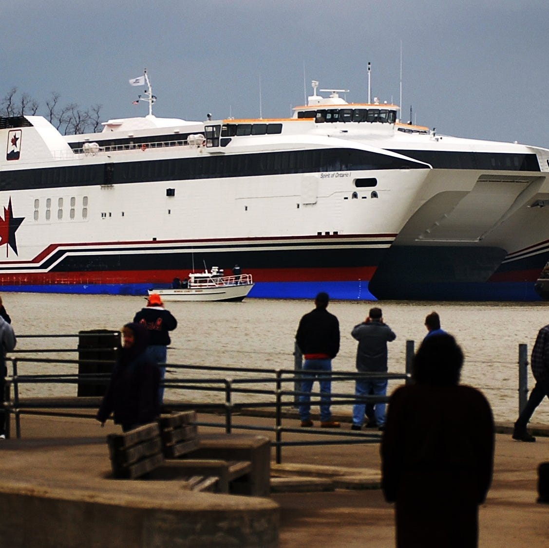 Rochester's fast ferry is a political issue again. This time it could topple a government.