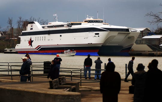 The Spirit of Ontario I high-speed ferry at the terminal in Charlotte on April 27, 2004.