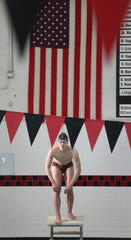 Aidan Kreiley, a junior at Dansville High School, is the All-Greater Rochester boys swimmer of the year for 2019.  Kreiley is seen at his home pool at Dansville High School Monday, March 18, 2019.