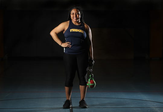 Monique Hardy of Webster Thomas, is the girls indoor track AGR player of the year.