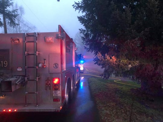 Crews from Marion County Fire District 1, assisted by fire crews from Aumsville, Turner and Silverton, responded to a house fire in the Macleay area early Thursday.