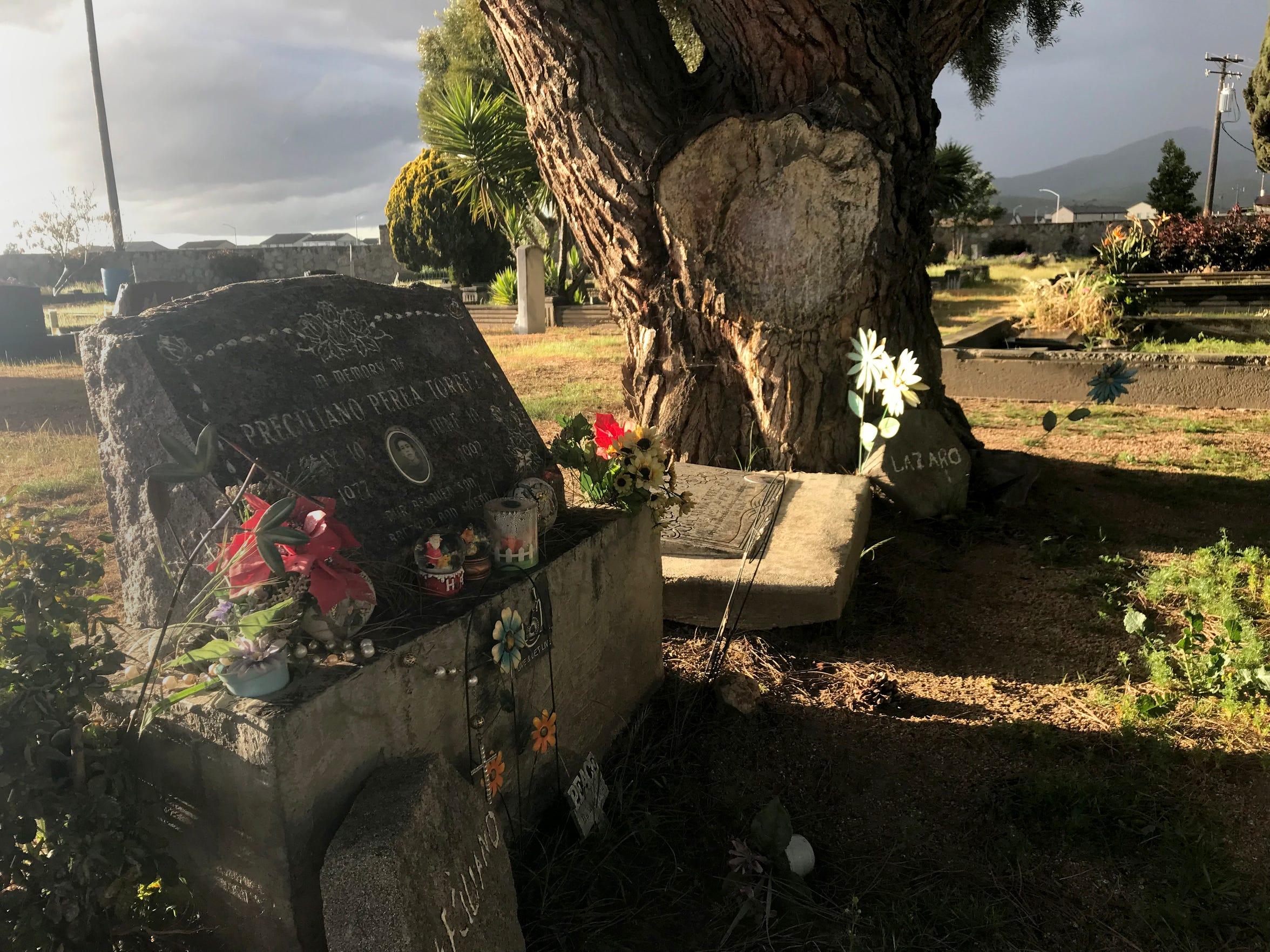 The grave of Preciliano Perea Torrez at the Soledad Cemetery.