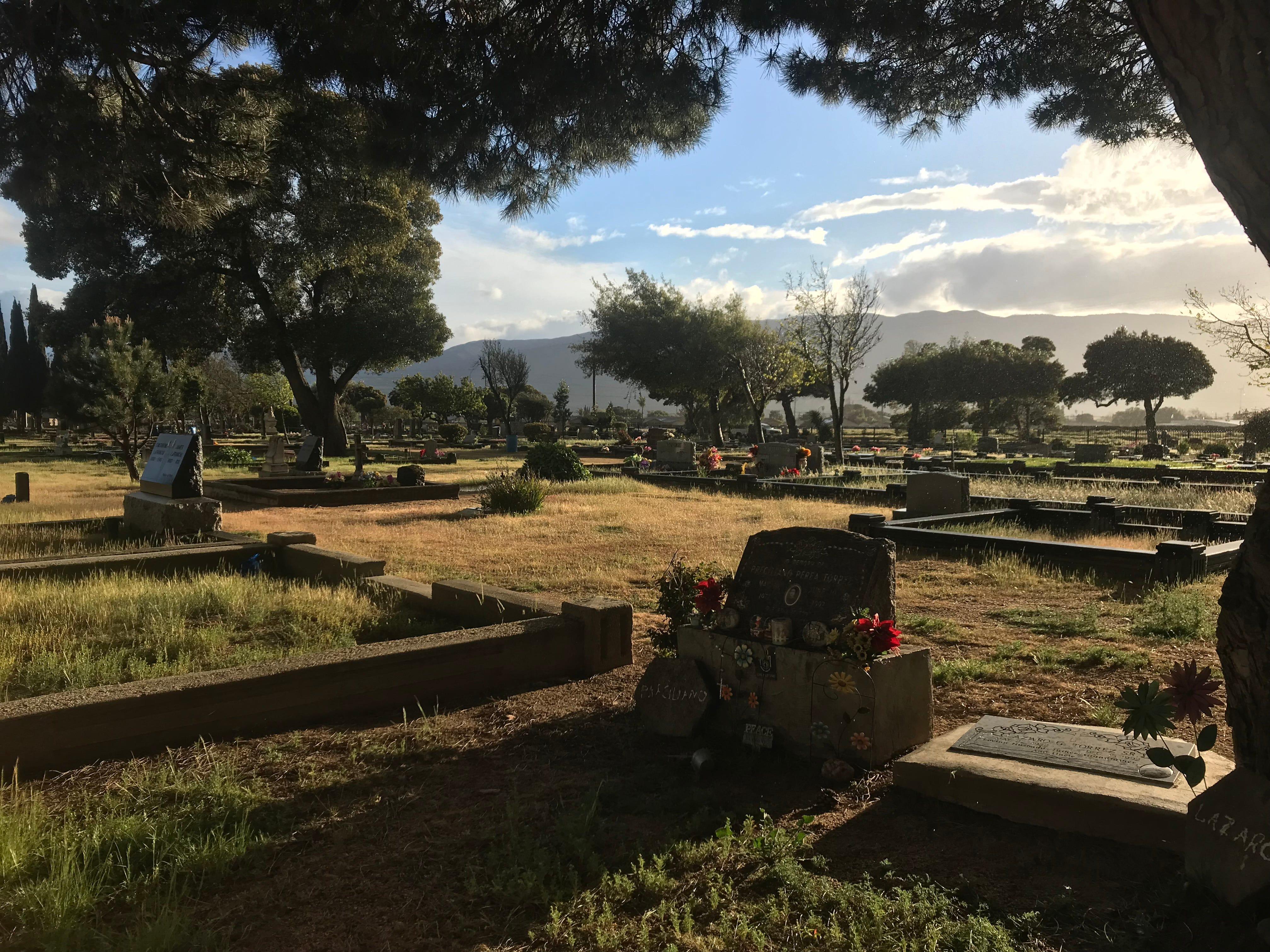 The grave of Preciliano Perea Perrez at the Soledad Cemetery.