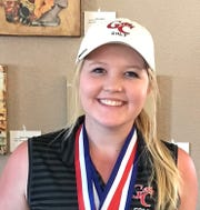 Garden City's Logan Wood fired a score of 80 in the opening round of the District 8-1A girls golf tournament Monday, March 25, 2019, at the Gaines County Golf Course in Seminole.