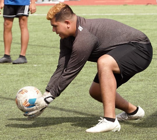 Lake View senior keeper Kevin Salas helped the Chiefs win the District 4-4A title in 2019 and take a five-game winning streak into the playoffs.