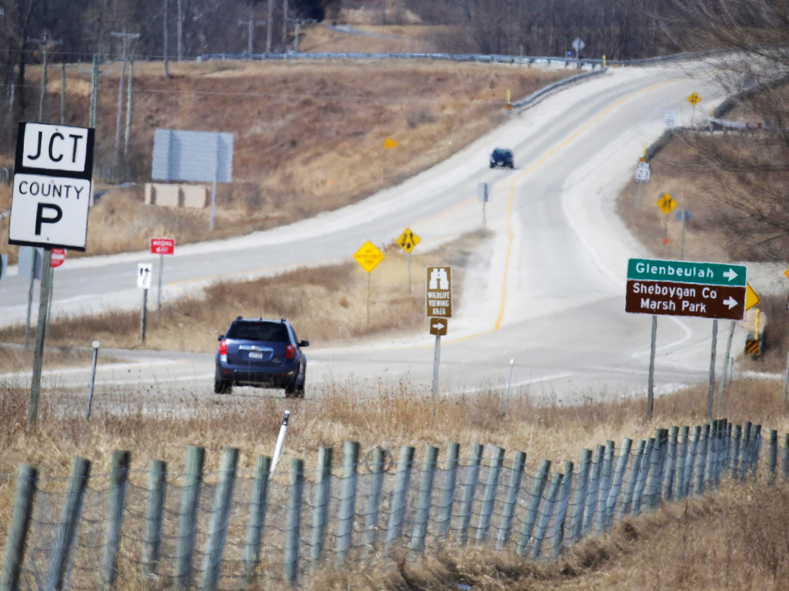 Vehicles travel on state Highway 23, Wednesday March 21, 2018, in Plymouth, Wis. The Wisconsin State Patrol says it is going to increase law enforcement on the road.