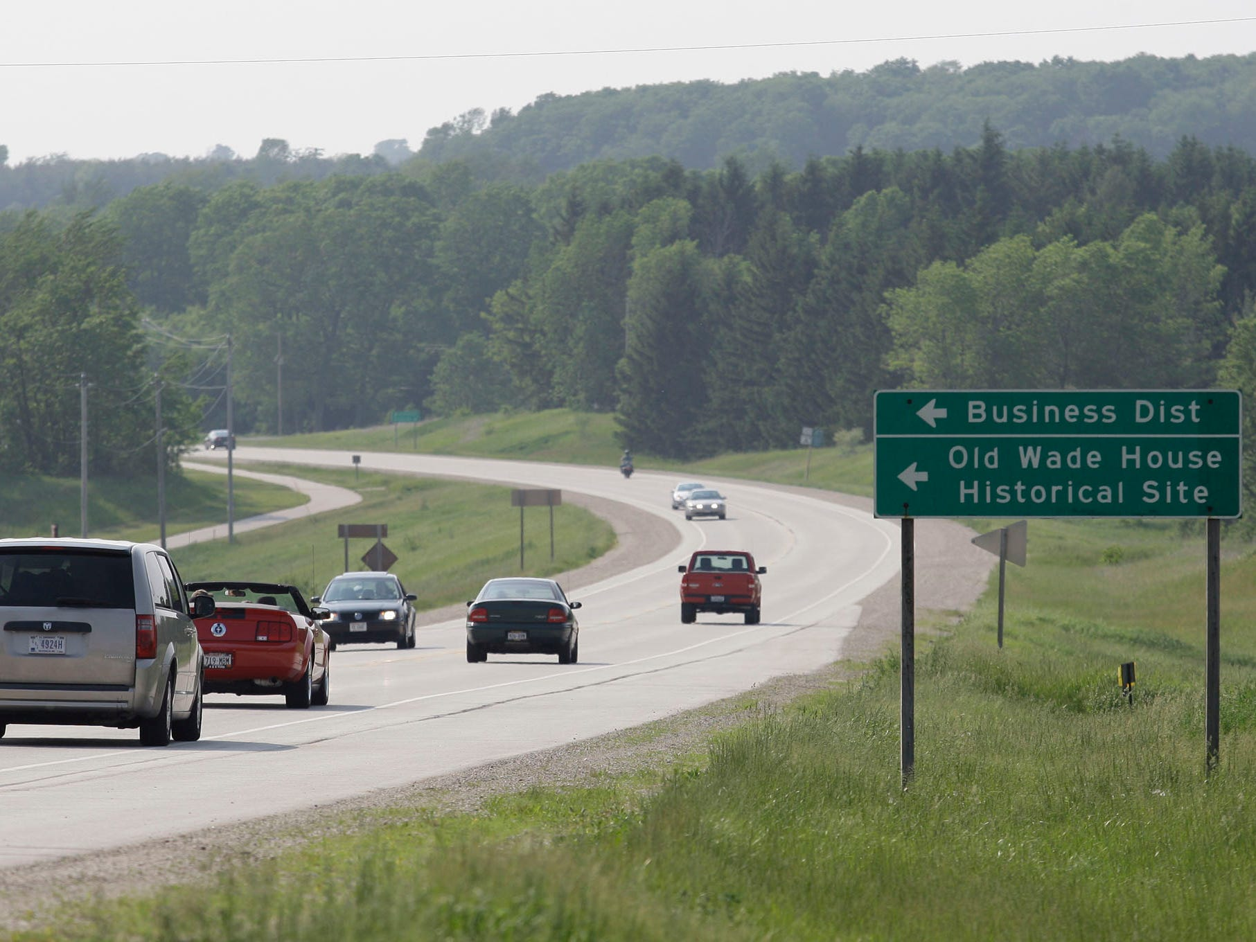 Traffic moves westbound on state Highway 23 Tuesday June 7, 2011 near Greenbush.
