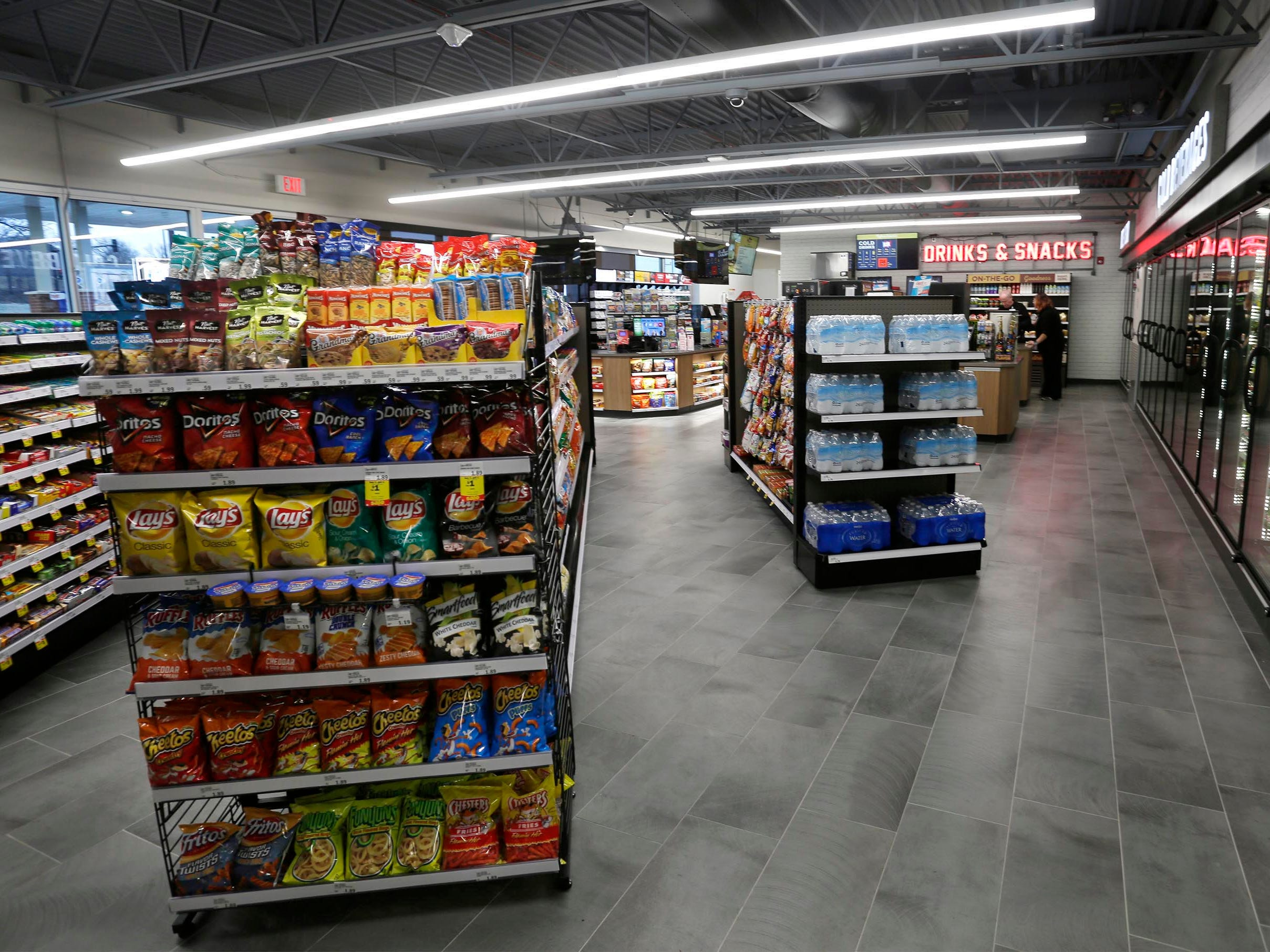 A view inside the new Meijer gas station, Thursday, March 28, 2019, in Sheboygan, Wis. The station is near the firm's supercenter which is slated to open Sunday, April 28, 2019 on the former Memorial Mall property.