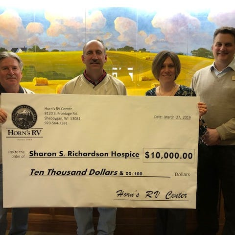 Horn's RV donates $10,000 to Sharon S. Richardson Community Hospice | Briefs