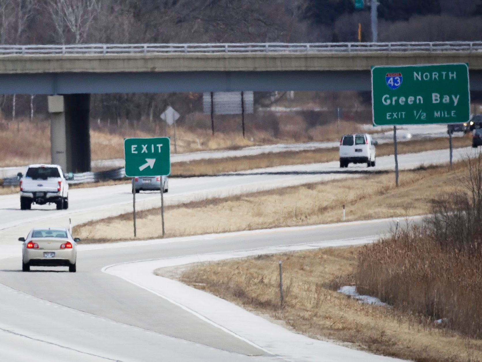 Vehicles travel eastbound on state Highway 23, Wednesday March 21, 2018, in Kohler, Wis. The Wisconsin State Patrol says it is going to increase law enforcement on the road.