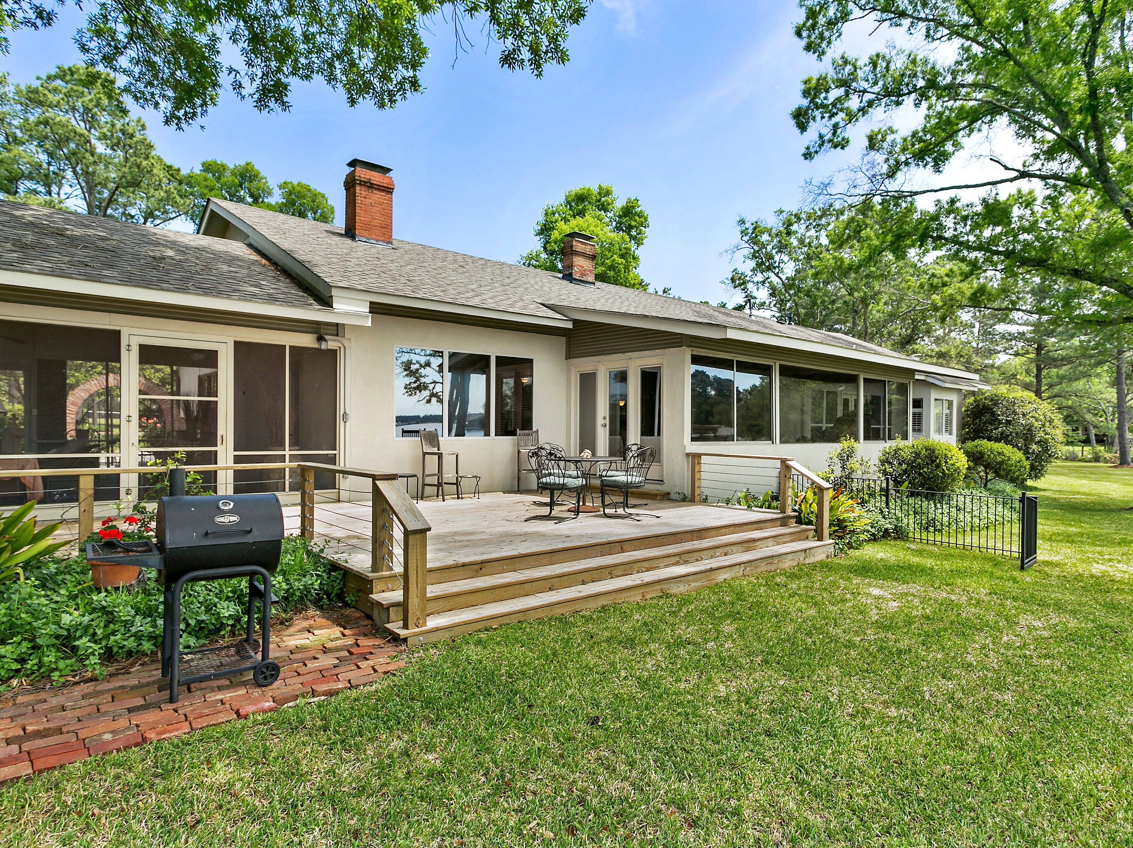 5591 Leisure Lane, Shreveport  Price: $949,900  Details: 4 bedrooms, 5 bathrooms, 3,592 square feet  Features: Open April 14 from 2-4, beautifully restored historic home on 5.8 acres with 10 ft. ceilings, cook's cypress cabinets, large screened porch with outdoor kitchen, new deck, private tennis court, 30x40 barn/workshop, fenced pasture, boat dock, underground fallout shelter/wine cellar.   Contact: Kathy Lex 426-5023